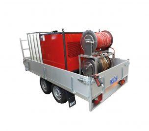 Nettoyeur haute pression et vapeur sur remorque